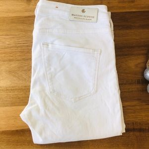 Scotch & Soda White Skinny Jeans